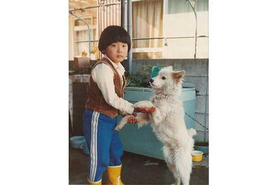 保育所時代(犬と一緒)