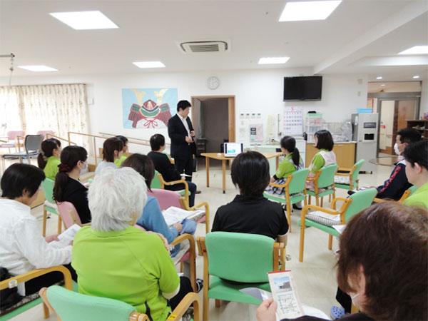 介護施設での講演